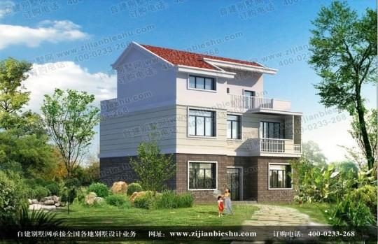 三层新农村独栋别墅带露台别墅设计图纸