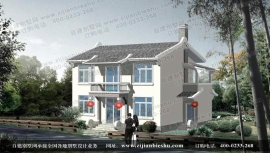 清新农村二楼小别墅设计图纸