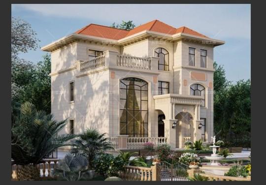 超赞的三层欧式别墅效果图