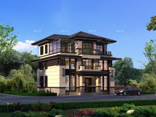 三层中式自建别墅