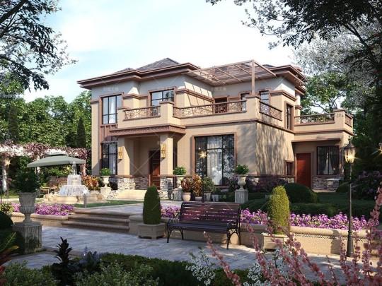 两层新中式农村自建房设计图