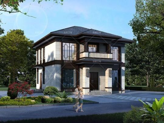 两开间两层农村自建别墅设计
