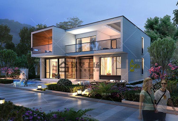占地150平现代风格二层简约别墅设计图纸