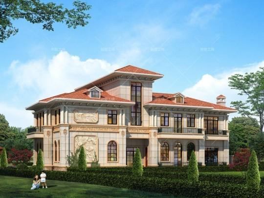 豪华二层欧式豪宅设计图纸