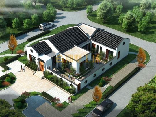 农村一层新中式别墅设计图纸