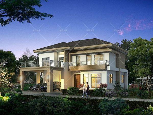 二层现代简约风格农村别墅设计图纸
