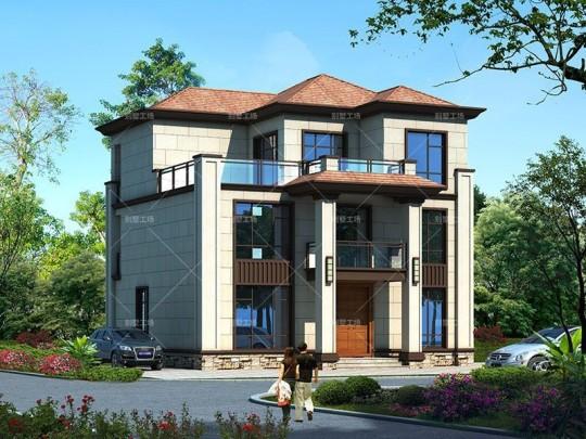 150平新中式三层农村别墅设计施工图