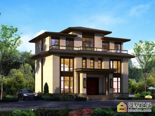 新款三层新中式高端农村住宅设计图