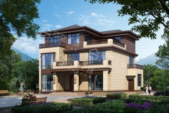 新中式三层农村自建别墅设计图纸