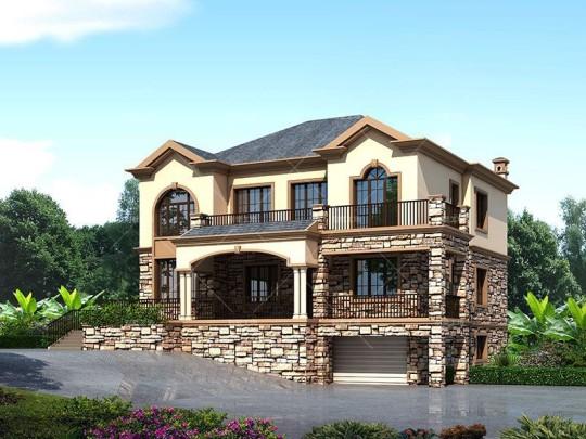 新品农村自建房设计图纸二层法式大气别墅