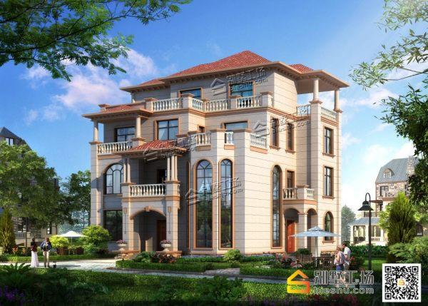 200平欧式四层豪华复式别墅设计图纸