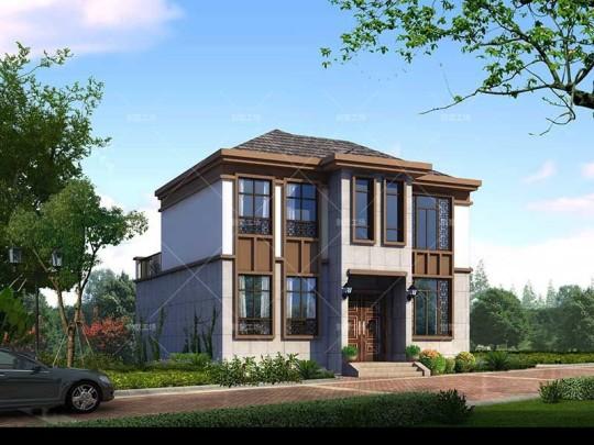 农村二层新中式别墅全套设计施工图纸