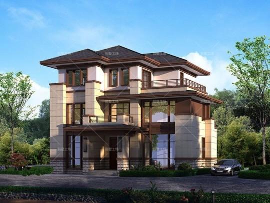 150平农村新中式风格三层别墅全套设计图纸