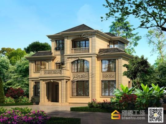 140平三层欧式农村别墅全套设计施工图纸
