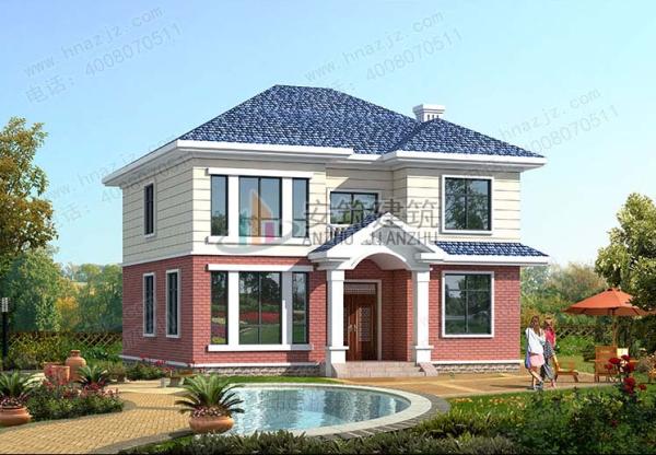 【二层房屋】11x11农村二层漂亮的楼房设计图