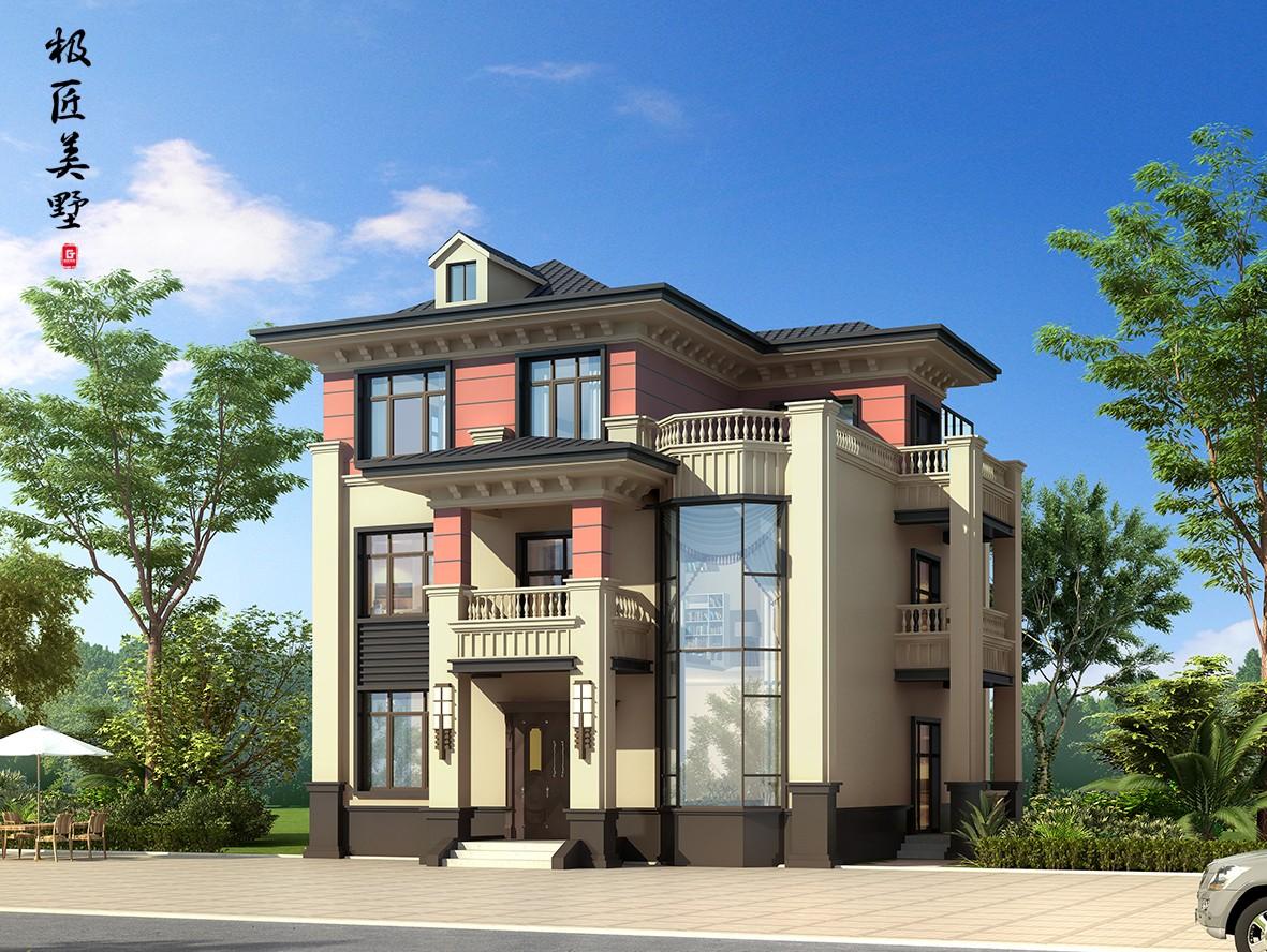 田园三层别墅设计图效果图