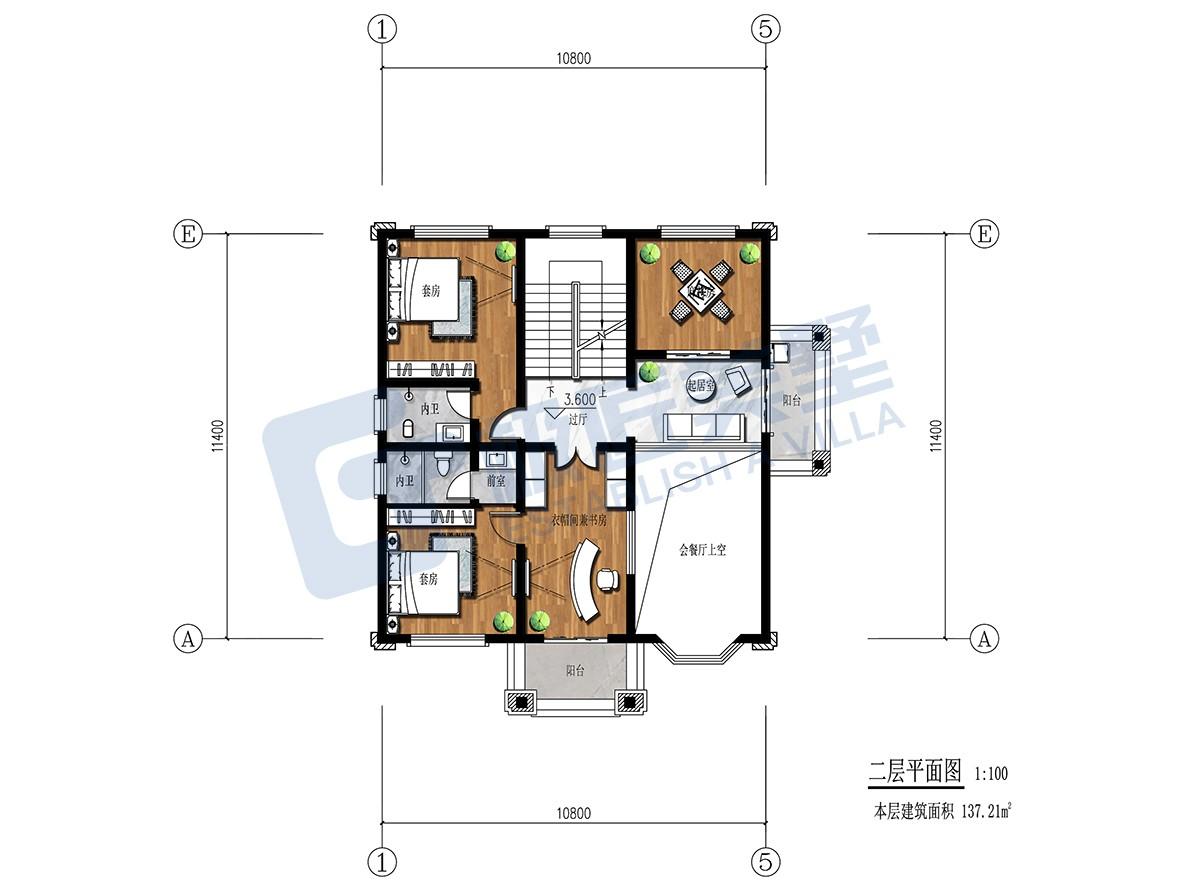 田园三层别墅设计图平面图