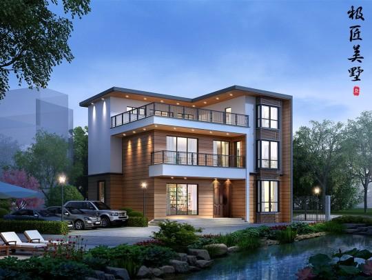 三层简约现代风格实用宜居乡村别墅-全套设计图纸