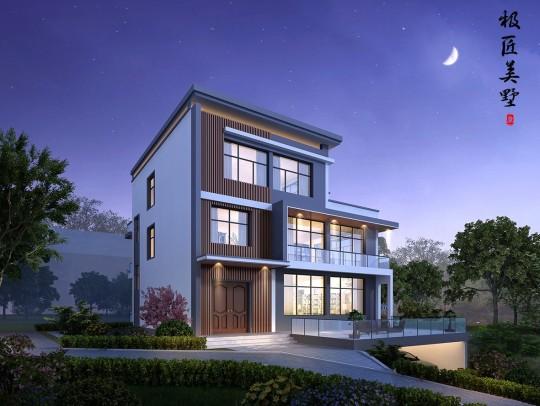 新农村三层现代风格实用别墅-全套设计图纸