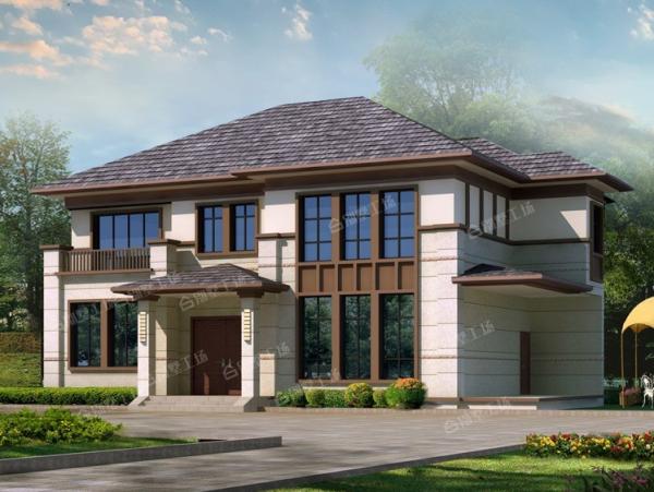 二层新中式别墅设计全套图纸