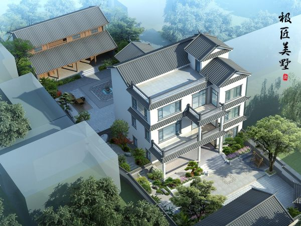 中式风格-C2-全套别墅设计图纸