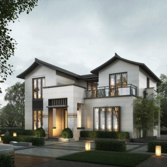 2021最热新中式建房图纸 如意府 占地120平二层带露台全套施工图