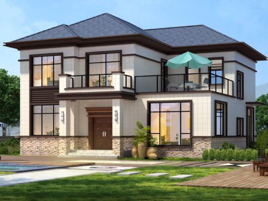 新中式二层精装修全套乡下农村自建房别墅设计图纸