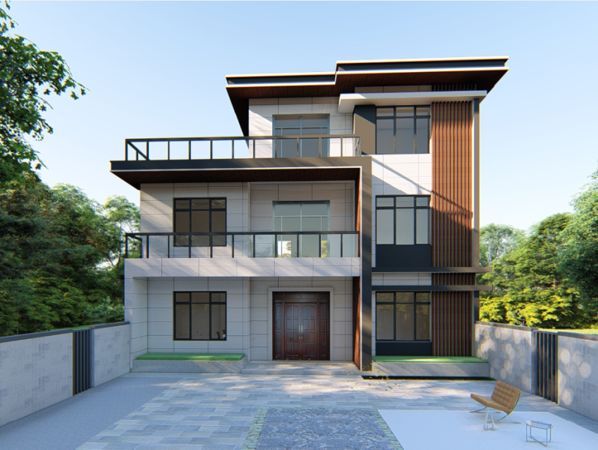 13x10三层别墅设计全套图纸