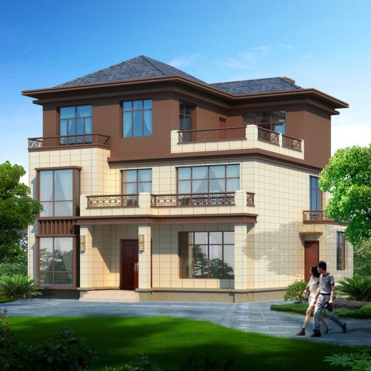 新农村三层小洋楼别墅设计图