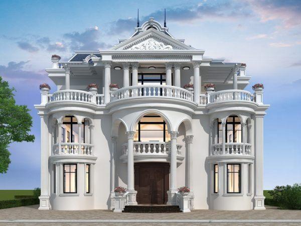 三层欧式地中海风格别墅设计全套图纸