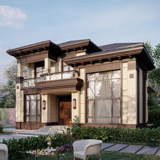 占地12X11现代新中式别墅设计图纸