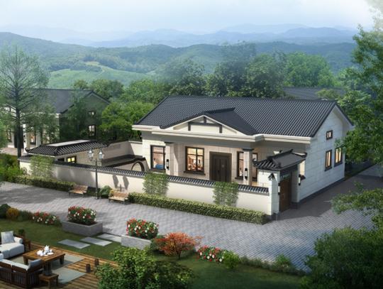 一层别墅-带庭院-全套设计图纸