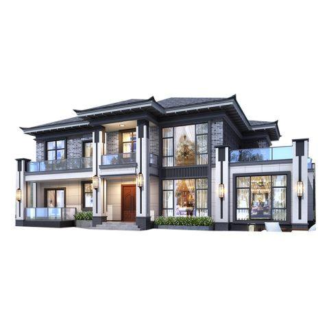 新中式-静雅和贵之墅-设计图纸