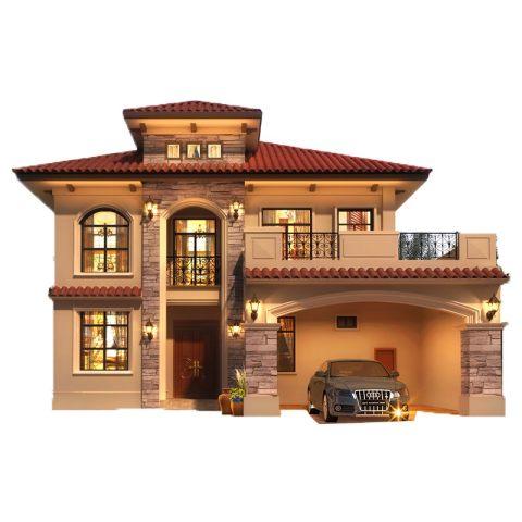 欧式两层宜居型别墅-带车库