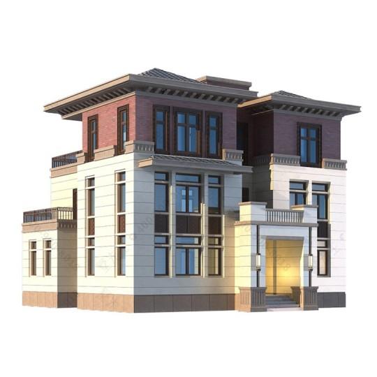 新中式大气三层乡村别墅全套设计图纸