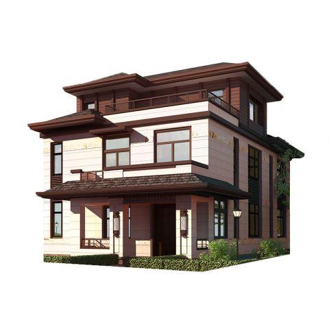 现代中式三层乡墅-全套设计图纸