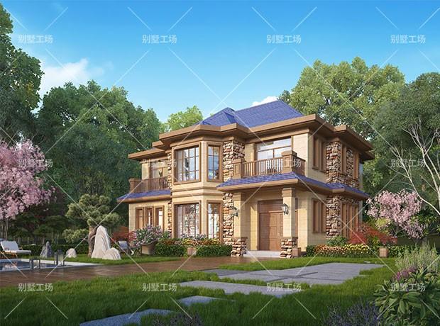 """欧式二层别墅设计图"""""""