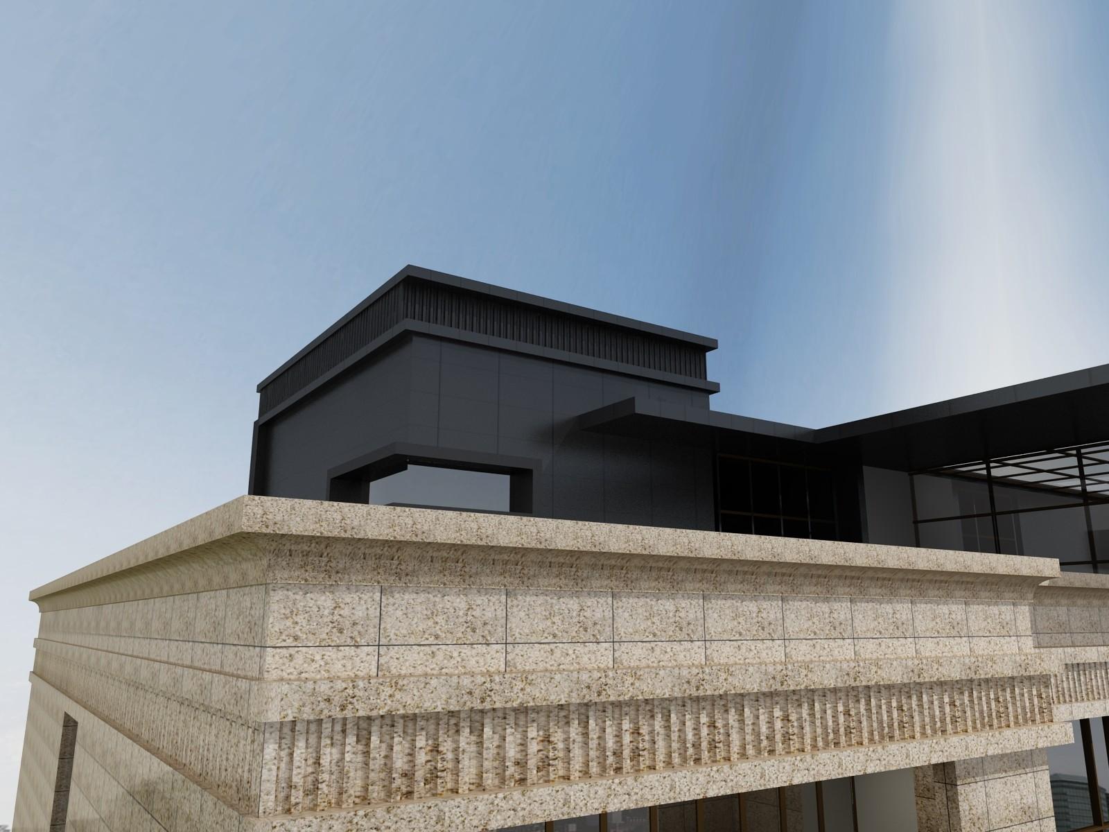 中式五层以上别墅设计图效果图