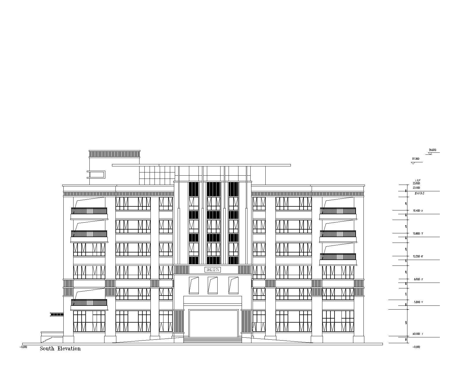 中式五层以上别墅设计图施工图