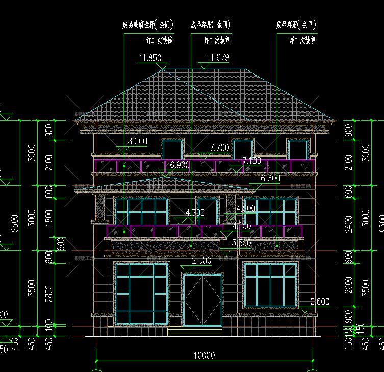 中式三层别墅设计图施工图