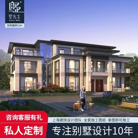三层新中式豪邸乡村别墅-全套设计图纸