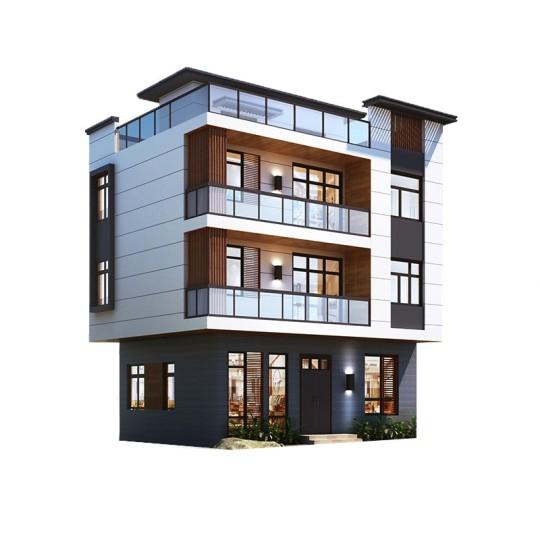 四层现代风格别墅-全套设计图纸