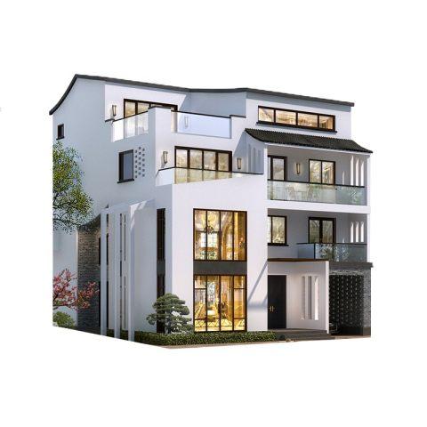 四层新中式风格别墅-全套设计图纸