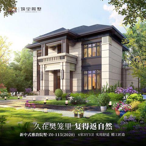 占地13x11雅韵院墅,现代与中式的完美融合