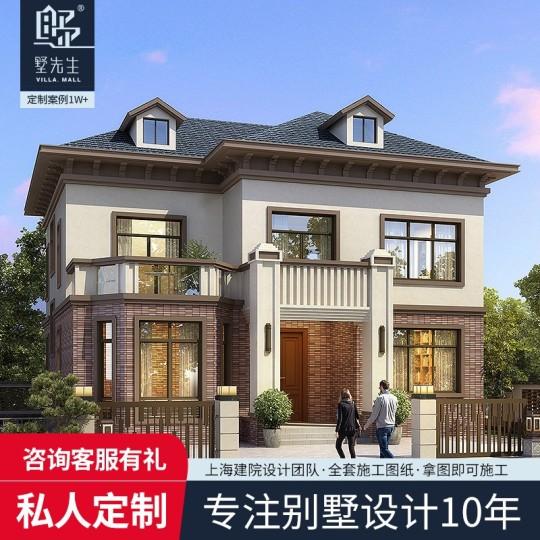 新中式两层乡村别墅全套设计图纸