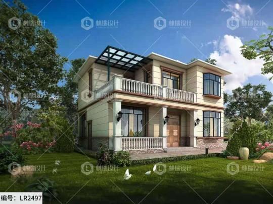 占地12×10m现代简欧时尚两层小别墅,邻居看了都来要图纸!