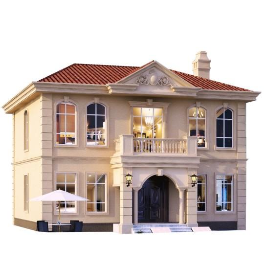 欧式二层新颖时尚乡下农村自建房别墅设计图纸