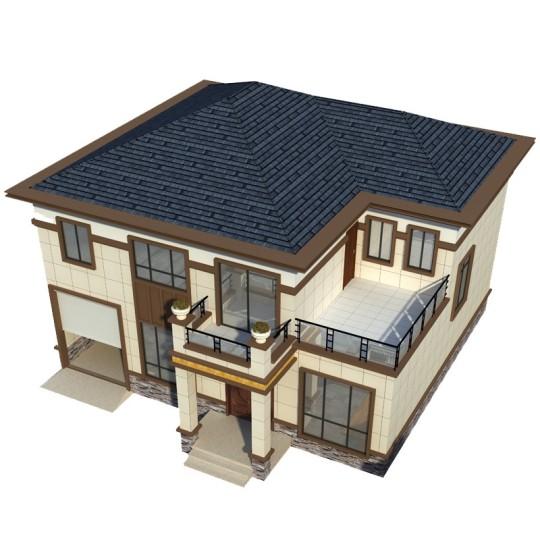 占地13*14,农村二层中式别墅设计图纸带车库