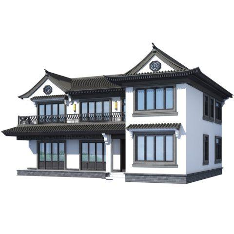 占地15*11,中式两层新款网红别墅全套设计图纸