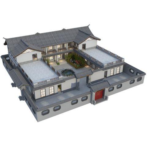 占地29*25,中式合院别墅全套设计图纸